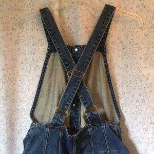 Free People Jeans - Free People Denim Skirt Overalls